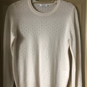 EQUIPMENT SHANE SWEATER - CREAM, SZ S, LONG SLEEVE